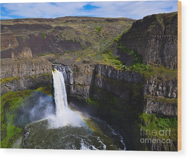 Water Wood Print featuring the photograph Palouse Falls by Camille Lyver