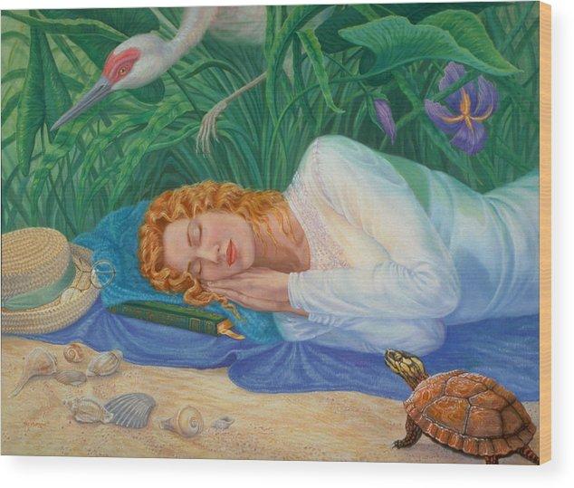 Seashore Wood Print featuring the painting Sweet Dreams by Pat Lewis