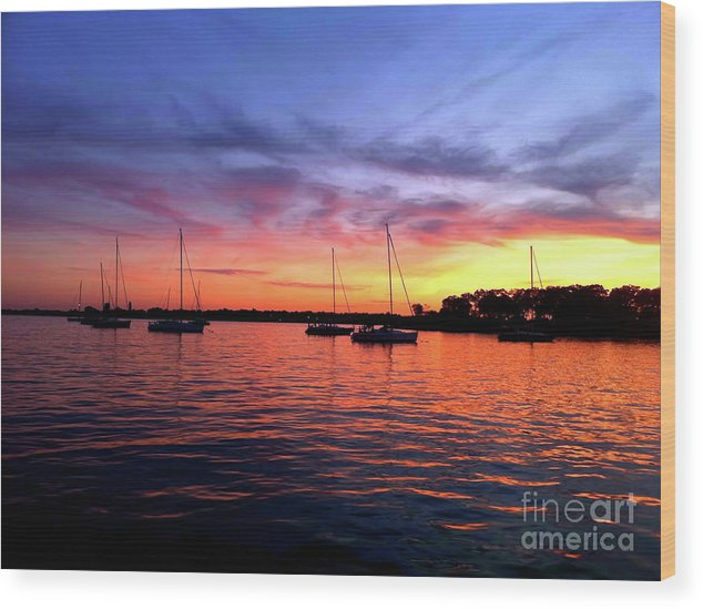 Sailboats Wood Print featuring the photograph Big Lights Will Inspire You by Christine Segalas