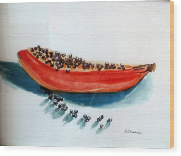 Still Life Wood Print featuring the painting Exodus by Lia Marsman