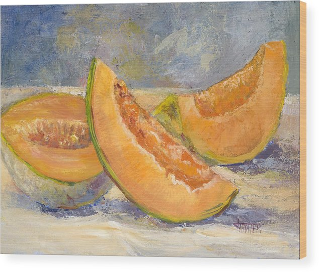 Fruit Wood Print featuring the painting Summer Sweet by Jimmie Trotter