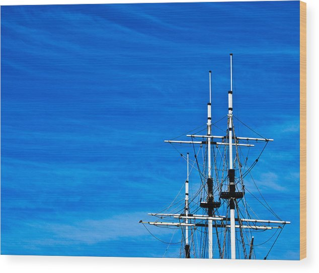The Sky Wood Print featuring the photograph The Sky The Sea by Vadim Grabbe