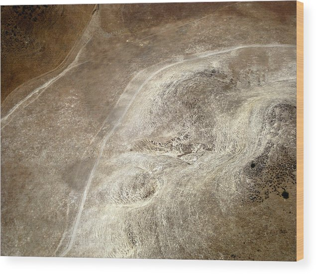 Aerial Photography Wood Print featuring the photograph Earthwear 1 by Sylvan Adams