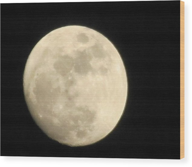 Full Moon Wood Print featuring the photograph Moon At The Window by Shawn Hughes
