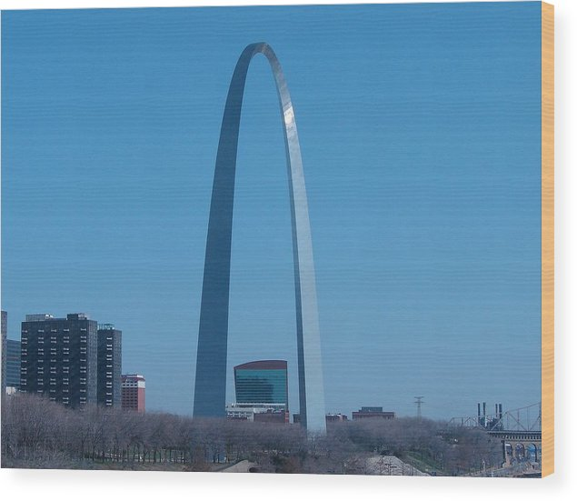 St Louis Wood Print featuring the photograph Arch With Lumiere by J R Seymour