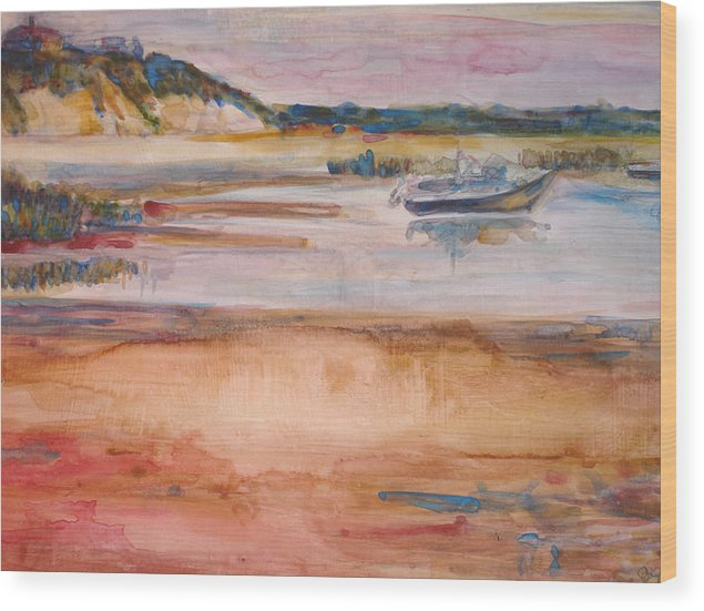 Landscape Wood Print featuring the painting Cole Brook Bay by Joyce Kanyuk