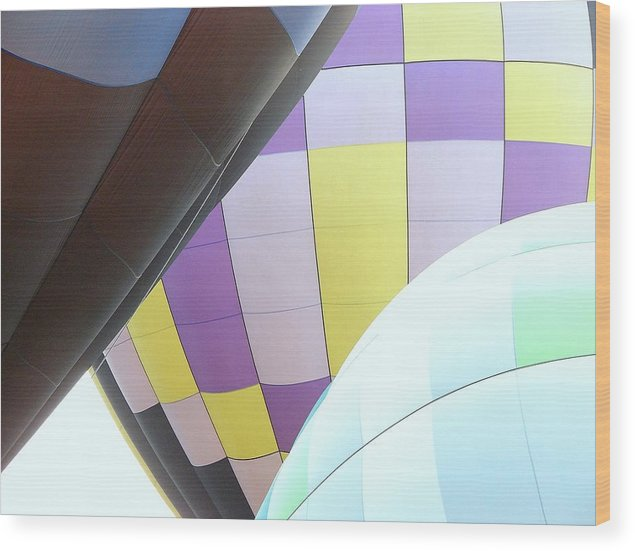 Balloons Wood Print featuring the photograph Hot Air Rising by J R Seymour
