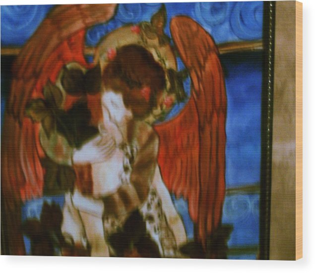 Spiritual Wood Print featuring the painting Progression Of The Soul by Carolyn Sylvester