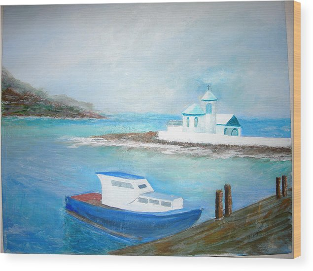 Seascape Wood Print featuring the painting Spirit Of The Sea by Jack Hampton