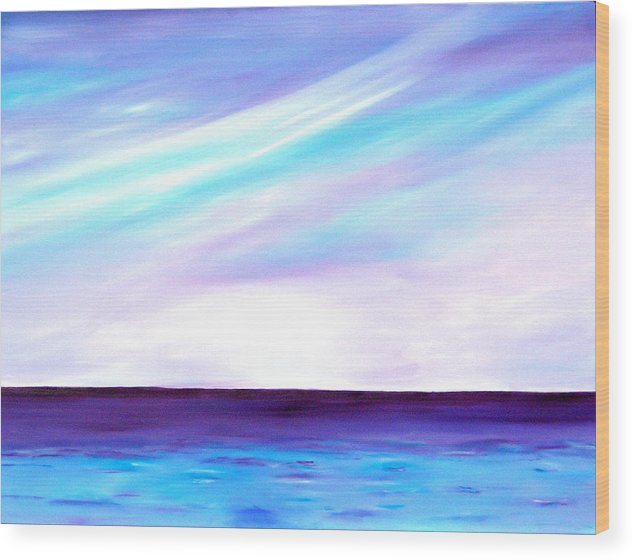 Caribbean Wood Print featuring the painting Calm Seas by Sula Chance