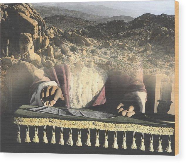 California Desert Wood Print featuring the photograph Pick A Card by Bob Bennett