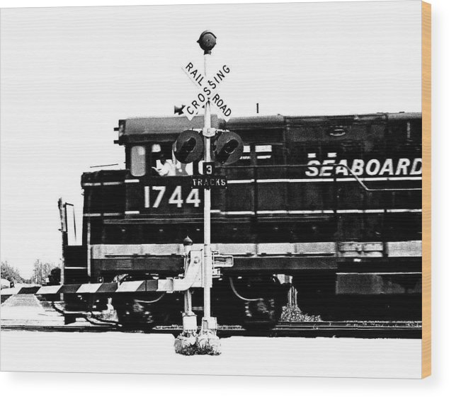 Train Wood Print featuring the photograph Train Tryptic A Of C by Richard Gerken