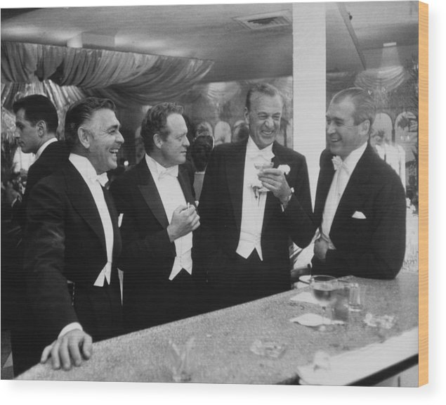 Jimmy Stewart Wood Print featuring the photograph Kings Of Hollywood by Slim Aarons