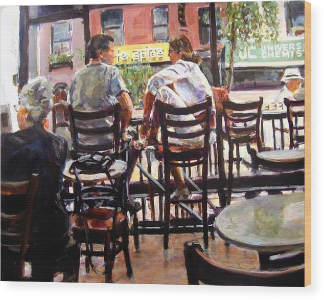 2006 Wood Print featuring the painting Ny Spice by Chuck Berk