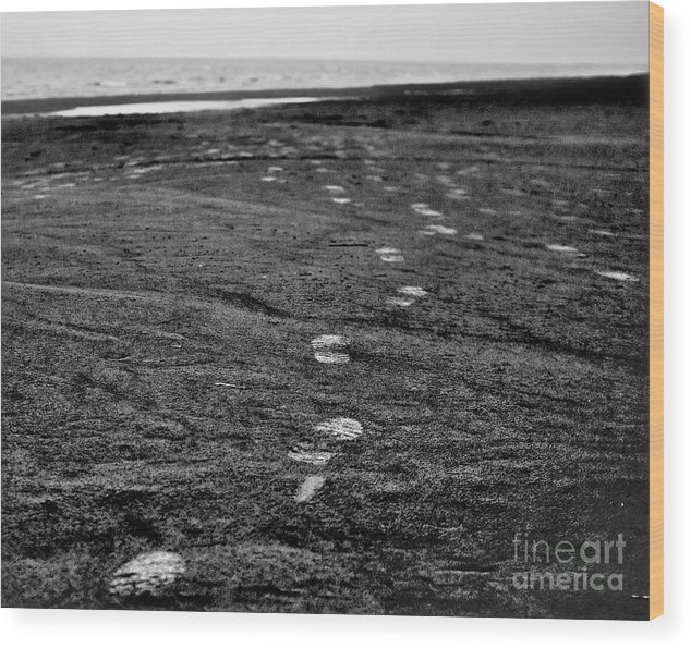 Beach Wood Print featuring the photograph Untitled by Vadim Grabbe