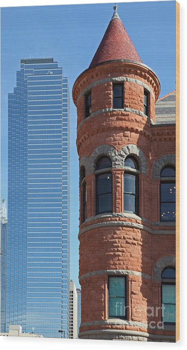 Dallas Wood Print featuring the photograph Dallas West End Old Red Museum by Ros Drinkwater