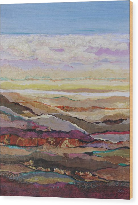 Southwest Mixed Media Wood Print featuring the painting Arizona Reflections Number Four by Don Trout