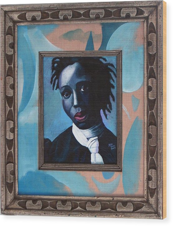 Portrait Wood Print featuring the painting Black Girl is beautiful by Joyce Owens