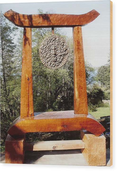 Vaporous Wood Print featuring the photograph Calekus Portal by Eric Singleton