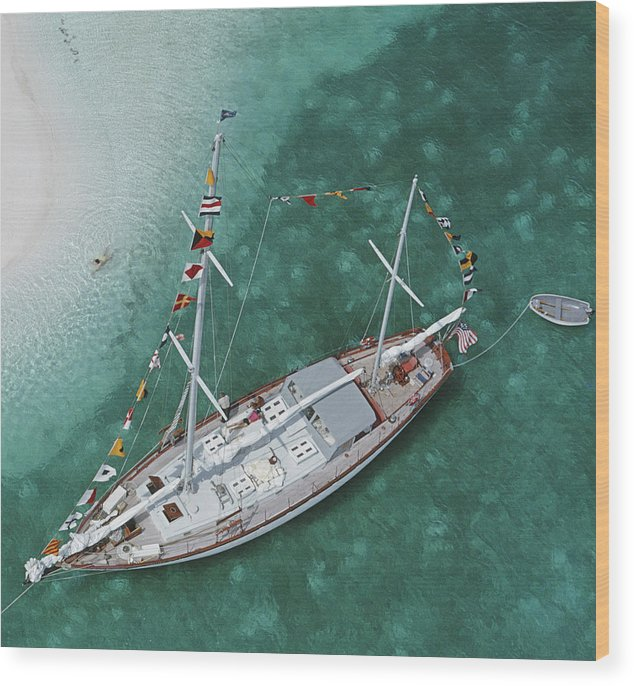 Georgetown Wood Print featuring the photograph Charter Ketch by Slim Aarons
