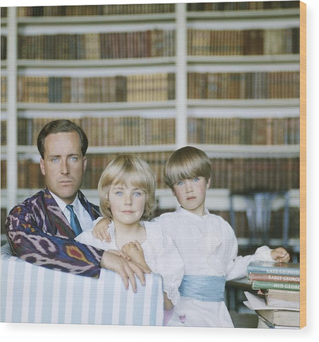 Material Wood Print featuring the photograph Guinness Family by Slim Aarons