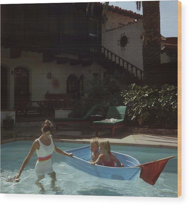 Laguna Beach Wood Print featuring the photograph Laguna Beach Home by Slim Aarons
