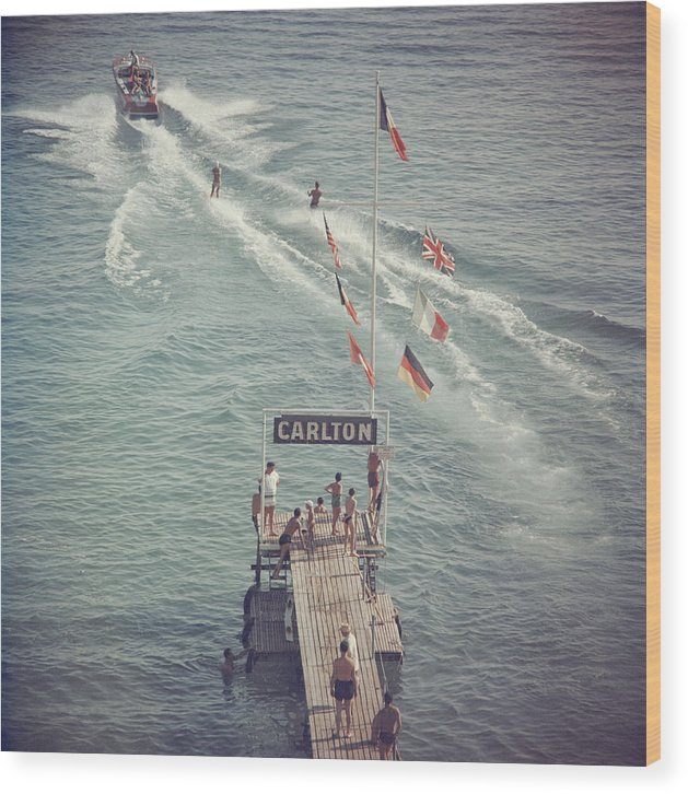 People Wood Print featuring the photograph Cannes Watersports by Slim Aarons