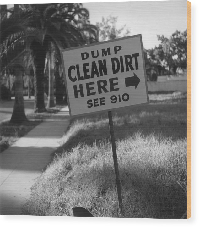 1950-1959 Wood Print featuring the photograph Clean Dirt by Slim Aarons