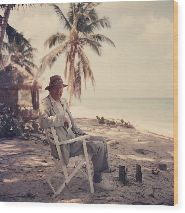 Straw Hat Wood Print featuring the photograph Poets Paradise by Slim Aarons