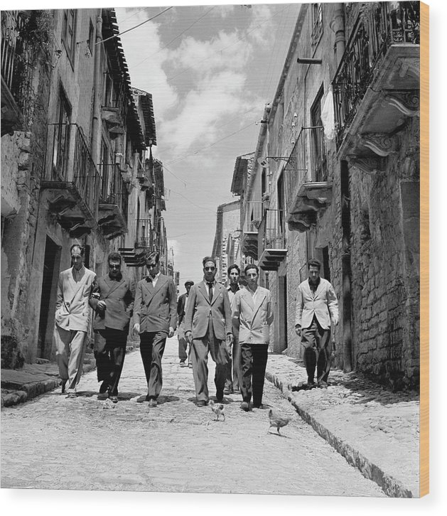 Sicily Wood Print featuring the photograph Lucky Luciano by Slim Aarons