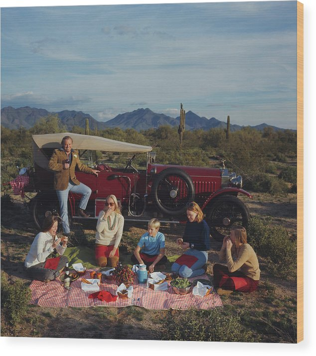 People Wood Print featuring the photograph Barrett Family Picnic by Slim Aarons