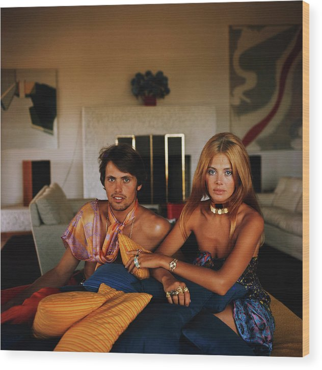 Actress Wood Print featuring the photograph Britt And Her Brother by Slim Aarons