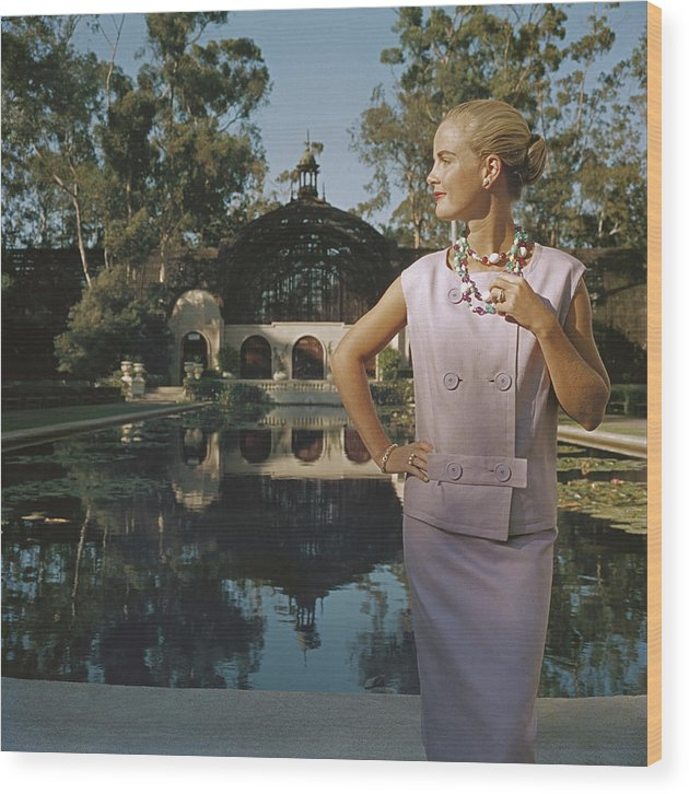 Balboa Park Wood Print featuring the photograph California Fashion by Slim Aarons