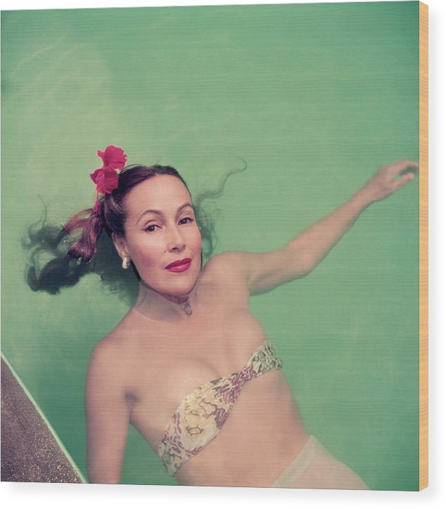 Dolores Del Rio Wood Print featuring the photograph Dolores Del Rio by Slim Aarons
