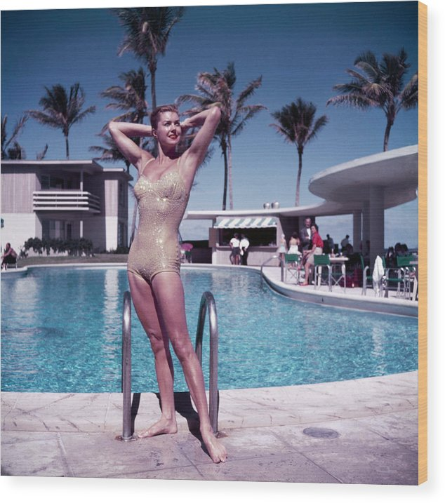 Esther Williams Wood Print featuring the photograph Esther Williams In Florida by Slim Aarons