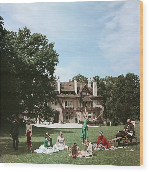 Child Wood Print featuring the photograph French Stately Home by Slim Aarons