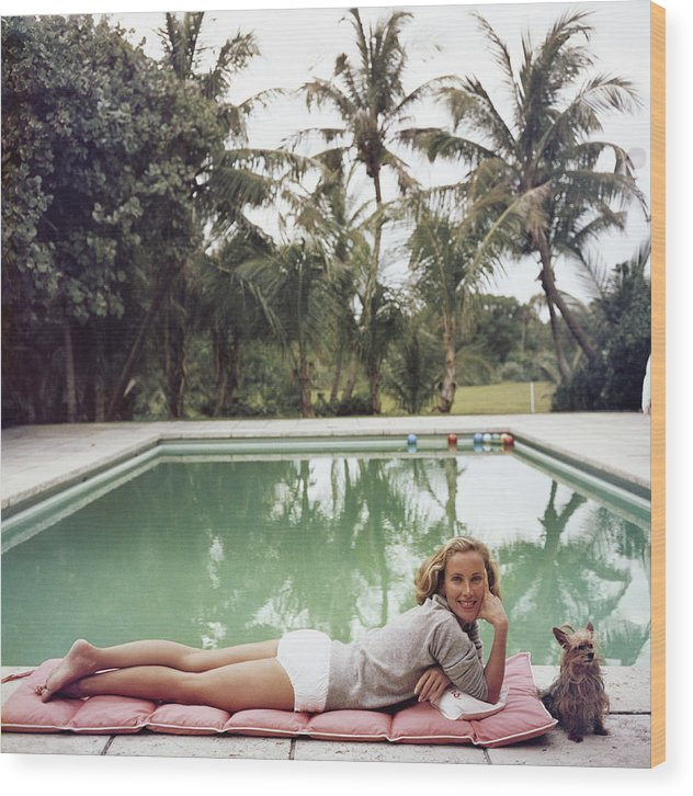 Pets Wood Print featuring the photograph Having A Topping Time by Slim Aarons