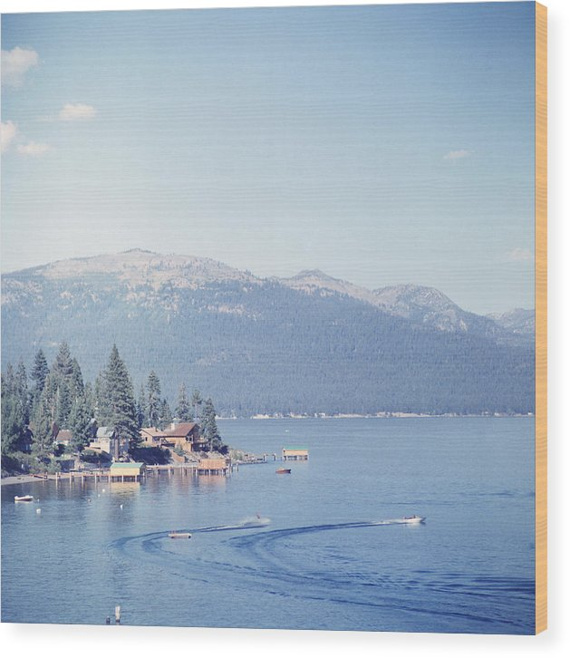 1950-1959 Wood Print featuring the photograph Lake Tahoe by Slim Aarons
