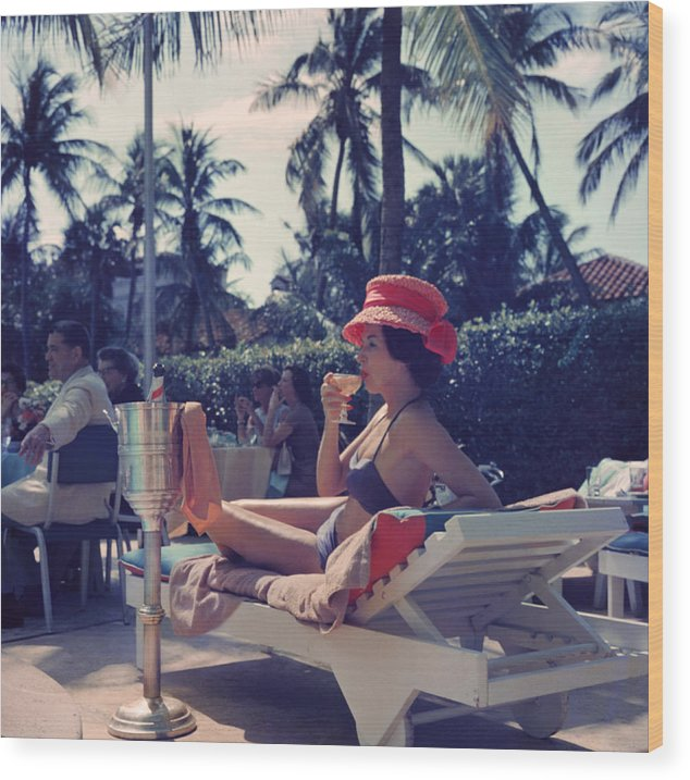 People Wood Print featuring the photograph Leisure And Fashion by Slim Aarons