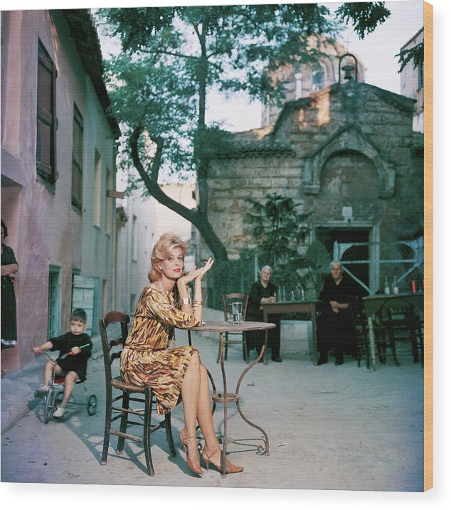 Child Wood Print featuring the photograph Melina Mercouri by Slim Aarons