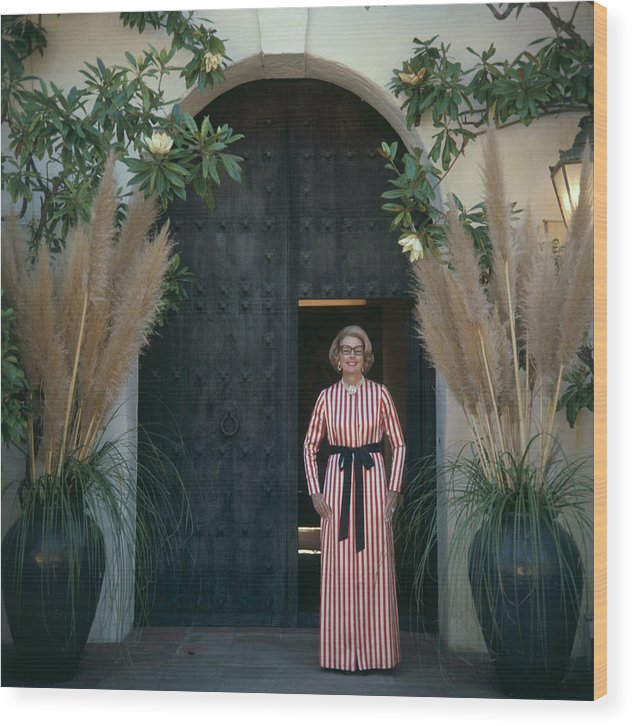 People Wood Print featuring the photograph Mrs James Hoover by Slim Aarons