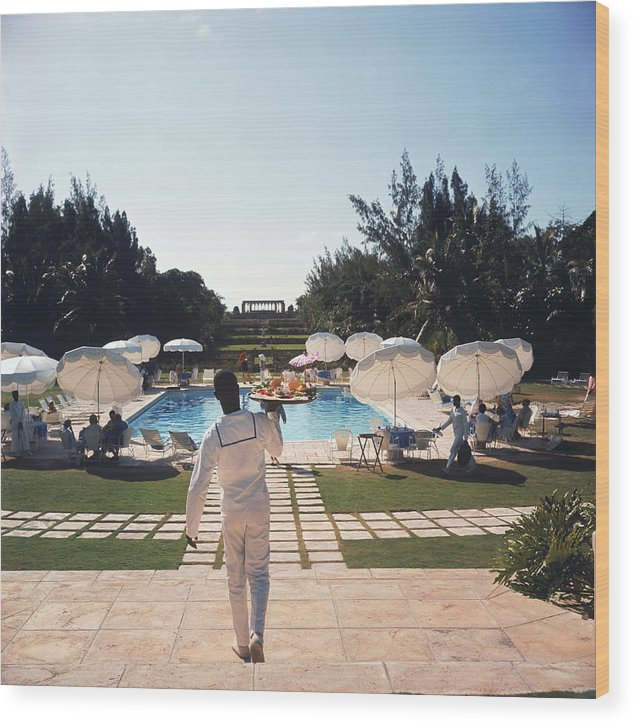 People Wood Print featuring the photograph Ocean Club On Paradise Island by Slim Aarons