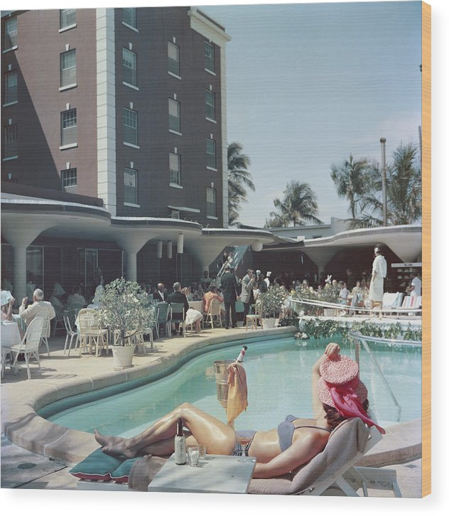 People Wood Print featuring the photograph Palm Beach by Slim Aarons