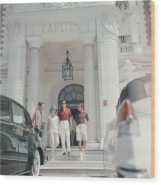 People Wood Print featuring the photograph Staying At The Carlton by Slim Aarons