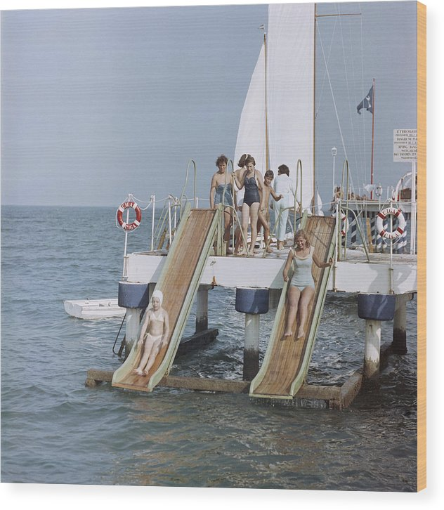 Child Wood Print featuring the photograph Venice Vacation by Slim Aarons