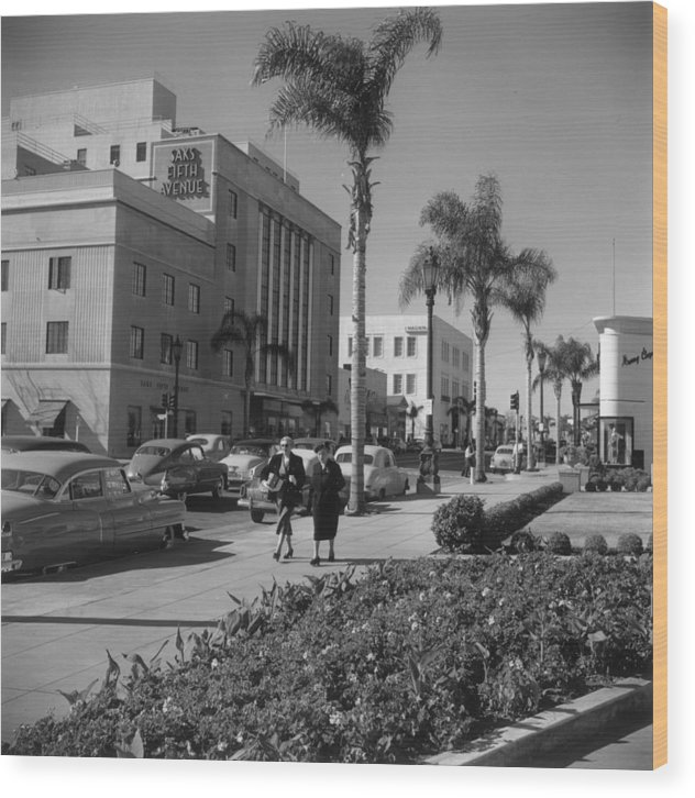 1950-1959 Wood Print featuring the photograph Wilshire Boulevard by Slim Aarons