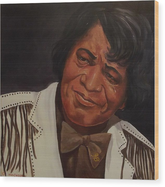 James Brown Wood Print featuring the painting Tears Of Joy by Wanda Dansereau