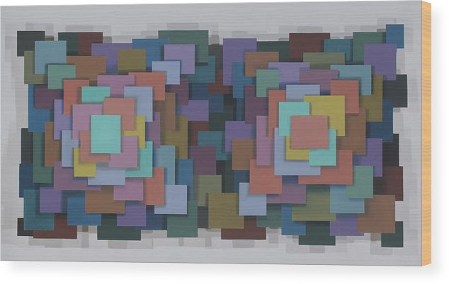 Abstract Geometric Optical Illusion Wood Print featuring the painting Untitled 4 by Marston A Jaquis