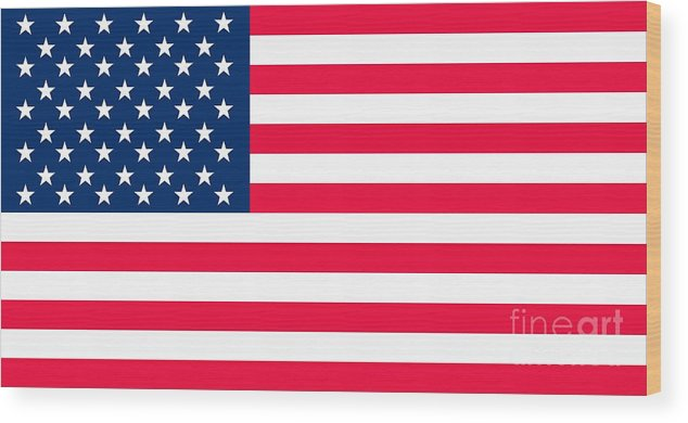 America Wood Print featuring the digital art Flag of the United States of America by Anonymous