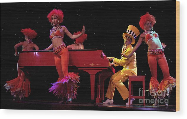 Dancing Wood Print featuring the photograph I Love Rock And Roll Music by Bob Christopher